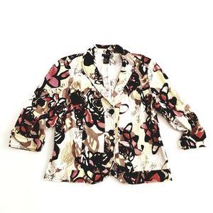 R-Q-T Womens Blazer Multicolored Size XL